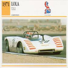 1971 LOLA T212 Racing Classic Car Photo/Info Maxi Card