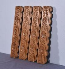 """15"""" Set of Four French Antique Trim Strips in Highly Carved Oak Wood"""