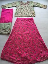 Lengha choli Saree Sari Salwar Kameez Indian Fancy Dress Costume (M) Pink