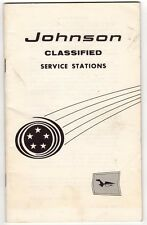 1950s Vtg Johnson Motors Boat Service Stations Booklet List of Dealers Locations