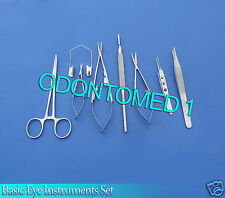 8 PC O.R GRADE BASIC EYE VETERINARY MICRO SURGICAL OPHTHALMIC INSTRUMENTS KIT #2