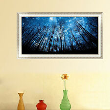 Forest Blue Sky Star Night 5D Diamond Embroidery Painting DIY Cross Stitch Decor