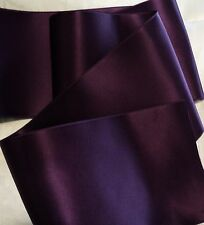 """4"""" WIDE SWISS DOUBLE FACE SATIN RIBBON- PLUM - EGGPLANT  BTY"""