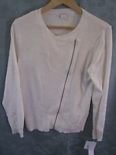 "Liz Claiborne ""Nordic Neutrals"" Zip Front Cardigan Sweater Size Large NWT"