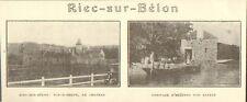 29 RIEC-SUR-BELON CHATEAU ARRIVAGE HUITRES IMAGE 1929
