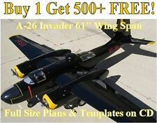 "A26 Invader 61"" WS Giant Scale RC Airplane Plans & Templates on CD in PDF Format"