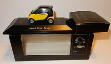 RARE SMART CITY COUPE JAUNE POSTE PTT POSTES + ROUGE 1/43 IN BOX 2 MODELS EN 1