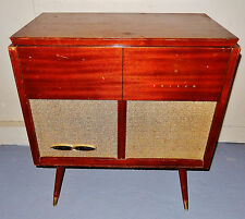 Vintage 50s Mid Century Modern Philco Record Player AM Radio Console!
