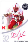 brandon jackson rookie rc draft auto nebraska huskers red ink sp college #/200