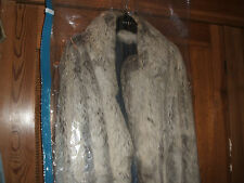 SALE VINTAGE BUNNY FUR grey JACKET CLASSIC chinchilla grey colour size 12 14 uk