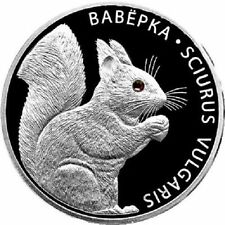 Belarus 2009 SQUIRREL Silver Proof Coin with Swarovski crystals