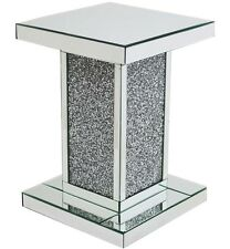 Stunning Diamond Crystal Side Display Stand End Table Furniture Home/Office