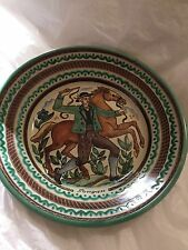 """EXCELLENT CONDITION Gmundner Keramik Hand-Painted Hanging Wall Plate - 11"""""""