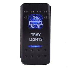 Car Marine Boat TRAY Carling LED LIGHT BAR Rocker Toggle Switch Blue LED 12V 20A