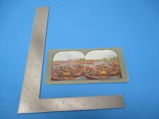 1903 Stereoview T.W.Ingersolle #1368 Among Junks On Shanghai River China
