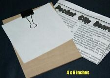 Mentalist Clipboard -- pocket size 4 x 6 inch, innocent looking cardboard   TMGS