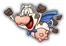 "Super Cow Cartoon Car Bumper Sticker Decal 5"" x 3"""