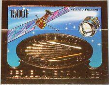 GUINEA 1986 1113 B GOLD Foil Halleyscher Komet Halley´s Comet Space Weltraum MNH