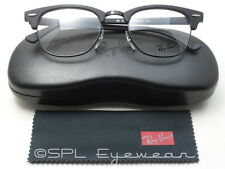 Ray Ban Glasses Clubmaster Optics RX RB5154 2000 Black Frame Clear Lens 49-21