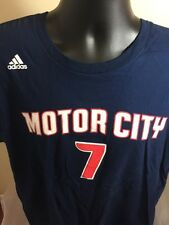 Adidas NBA Detroit Pistons Motor City Brandon Jennings Jersey T-Shirt. Size XL