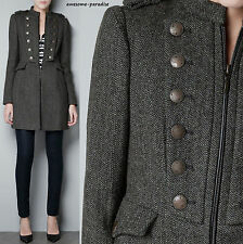 ZARA COAT BROWN (MOLE BROWN) FANTASY MILITARY JACKET BLAZER EXTRA LARGE XL