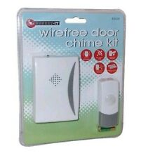 WIREFREE WIRELESS DOOR CHIME SET KIT 24 TUNES SOUNDS BELL BATTERY OPERATED