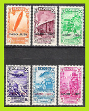 CABO / CAPE JUBY 1943 BENEFICENCIA OVPT 12 - 17 ZEPPELIN PLANE TRAIN HORSE - MNH