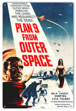 Plan 9 From Outer Space Horror Sign 12X18