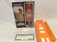 "custom Vintage Star wars 12"" luke skywalker poncho box + inserts"