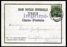 GERMAN Pos in TURKISH EMPIRE-1903 Picture Postcard of Jerusalem bearing 10pa