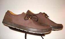 Men's CUSHE Casual Cool Brown Leather Oxford Sz. 44/11 US MINTY!