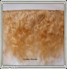 "Mohair Weft  Golden Blonde,  5"" - 6"" X 36""   Ideal for Reborn dolls"