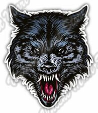 "Angry Wild Wolf Scary Head Back Off Car Bumper Window Vinyl Sticker Decal 4""X5"""