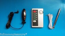 ELECTROSEX E-STIM TENS SET WITH BI POLAR URETHRAL AND PLUG PLUS COTROL UNIT,UK!
