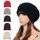 Women's Men's Hat Unisex Warm Winter Knit Crochet Cap Hip-hop Baggy Beanie Hats