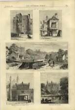 1875 Windsor Old Public House Romney Lock Clock Belltower Weaponry