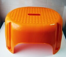 TRITTHOCKER 43x34x24cm orange Trittstufe Fußbank Fußhocker Kinderhocker Hocker 7