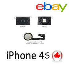Replacement Home Menu Button with Flex Cable Repair for Apple iPhone 4S (Black)