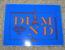 DIAMOND SUPPLY CO 3X4 Blue Paris Skate Sticker Logo skateboards helmets decal