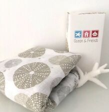 SALE - Organic Muslin Swaddle Wrap Blanket - Grand Sea Urchin