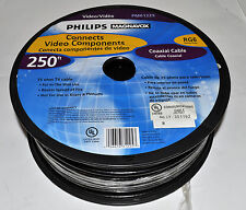 Philips Magnavox 250 ft Coaxial Cable RG6-Heavy Duty 75 ohm TV cable