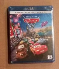 NEW Disney Cars 2 3D Blu-ray / Blu-ray / DVD & Digital Copy 5 Disc Set