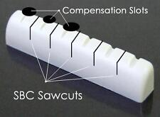 "AxeMasters SBC Concept / COMPENSATED 1/4"" BONE NUT made for Ibanez Guitar"