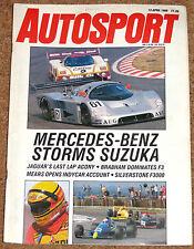 Autosport 13/4/89* SILVERSTONE F3000 & BTCC -WSPC SUZUKA -ZOLDER DTM -BBS WHEELS