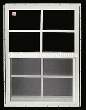 """Shed Window 12"""" x 18"""" White J-Channel Set of 2 Storage Shed Barn Deer Stand"""