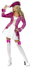 Smiffy's Women's Fever Pink and White Sexy Pirate Treasure Size XS 2-4
