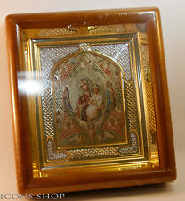 Burning bush Неопалимая Купина RUSSIAN ORTHODOX CHURCH ICON IN WOOD FRAME