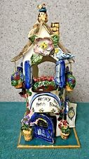 Honey Bee Flower Store t-lite holder from Blue Sky Clayworks by Heather Goldminc
