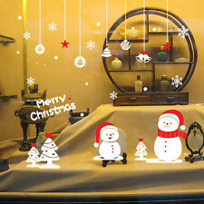 Merry Christmas Snowflake Xmas Snowman Tree Wall Sticker Decals Window decor