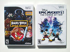 Angry Birds Star Wars  + Disney Epic Mickey 2 Wii games  NEW